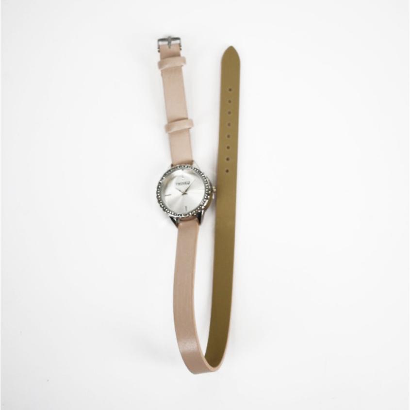 TWINKLE Наручные часы с японским механизмом beige doublebelt