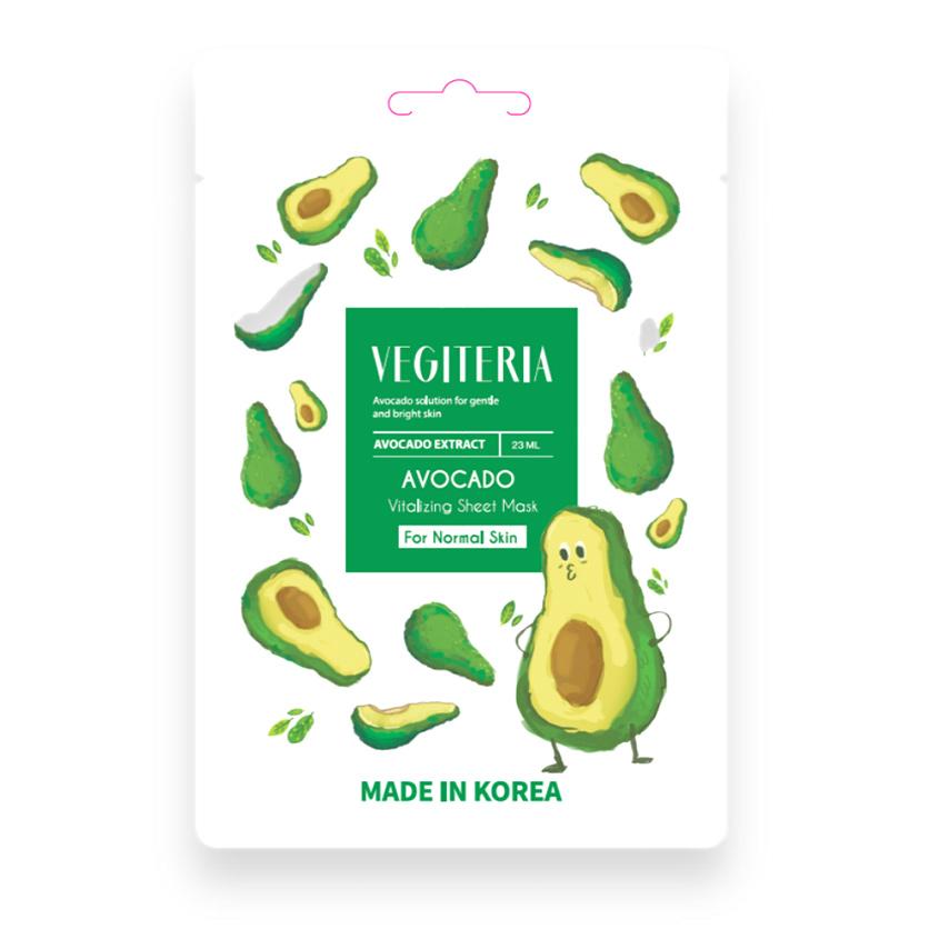 Купить VEGITERIA Тканевая маска авокадо для нормальной кожи