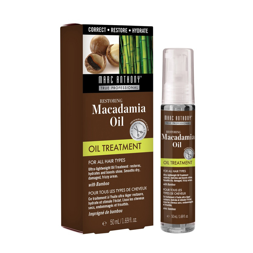 MARC ANTHONY Восстанавливающее масло для волос с маслом макадамии