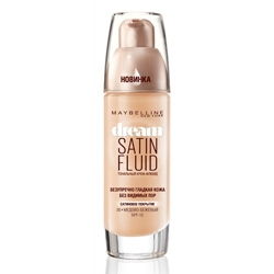 MAYBELLINE ��������� ����-����� Dream Satin Fluid � 010 ����������-�������