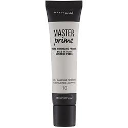 MAYBELLINE Основа под макияж Master Prime, маскирующий поры № 10 Прозрачный, 30 мл