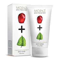 MORAZ Скраб для тела на экстрактах граната и горца PREMIUM BEAUTY MORAZ+ (премиальный уход) 150 мл