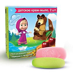 Маша и Медведь Маша и Медведь Детское крем-мыло Черешня и Печенька 2х42 г