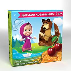 Маша и Медведь Маша и Медведь Детское крем-мыло Клубничка и Липовый цвет 2х42 г