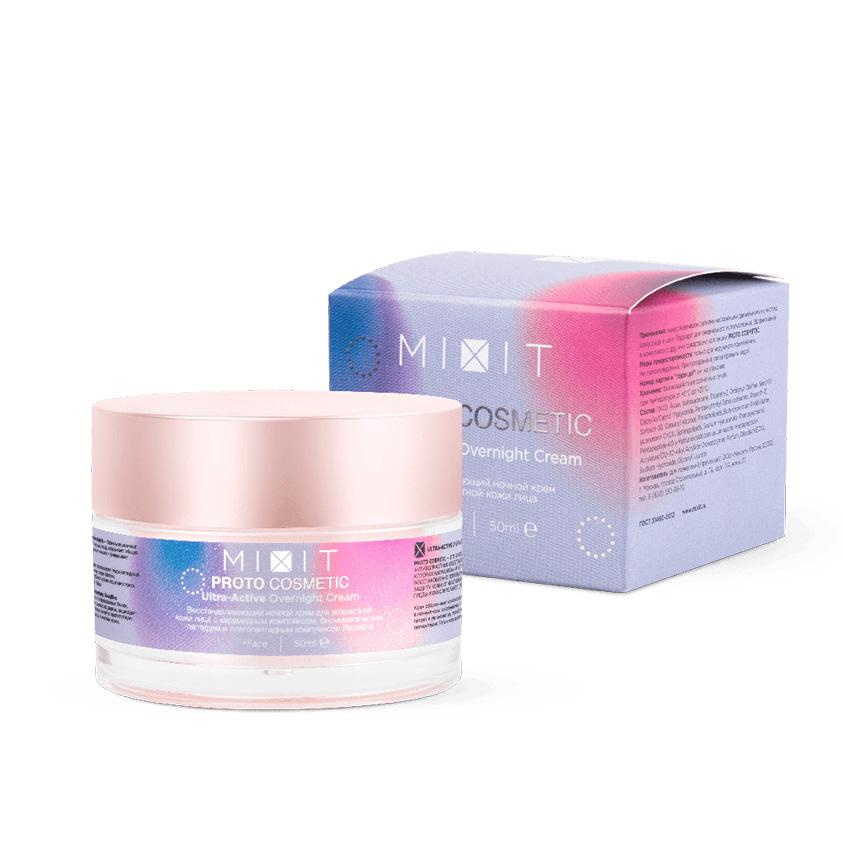 MIXIT Крем ночной восстанавливающий для возрастной кожи лица 30+ PROTOCOSMETIC Ultra-Active Overnight Cream