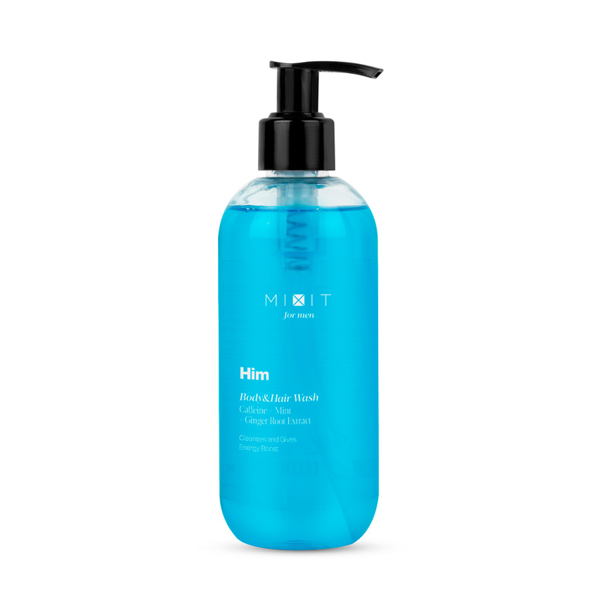Купить MIXIT Тонизирующий гель для душа и шампунь 2 в 1 Him Body&Hair Wash