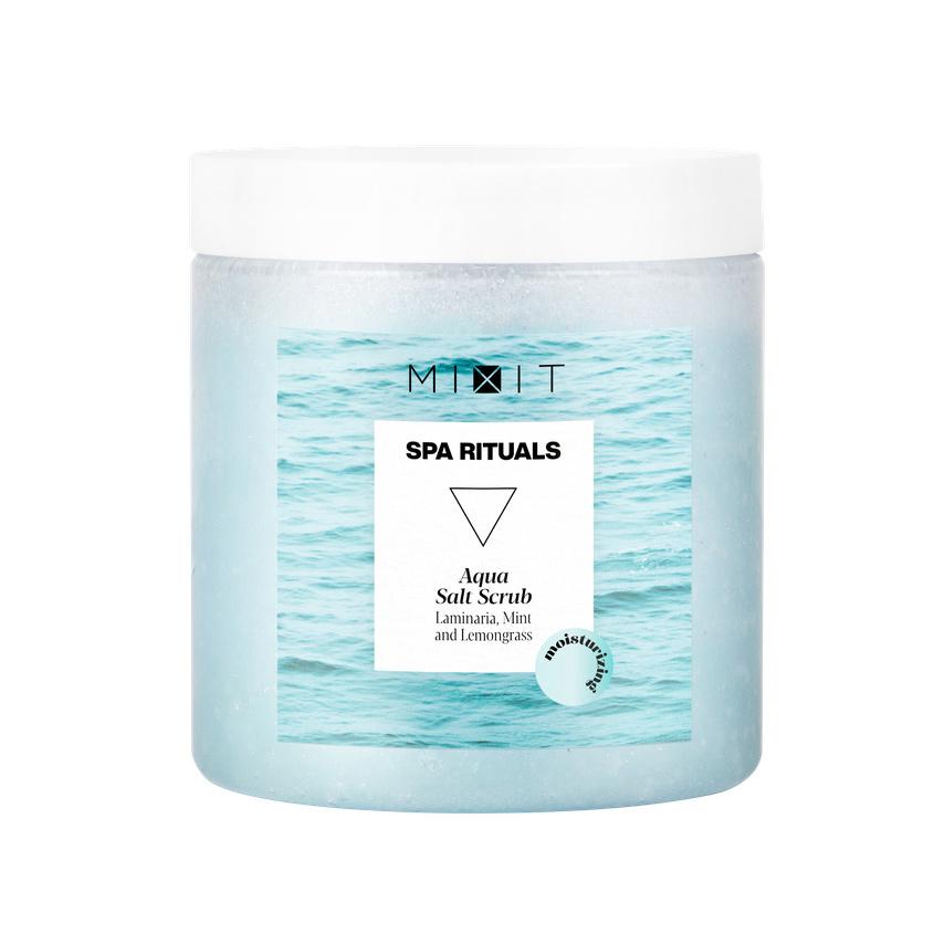 MIXIT Увлажняющий солевой скраб для тела с экстрактами ламинарии и мяты SPA RITUALS Aqua Salt Scrub