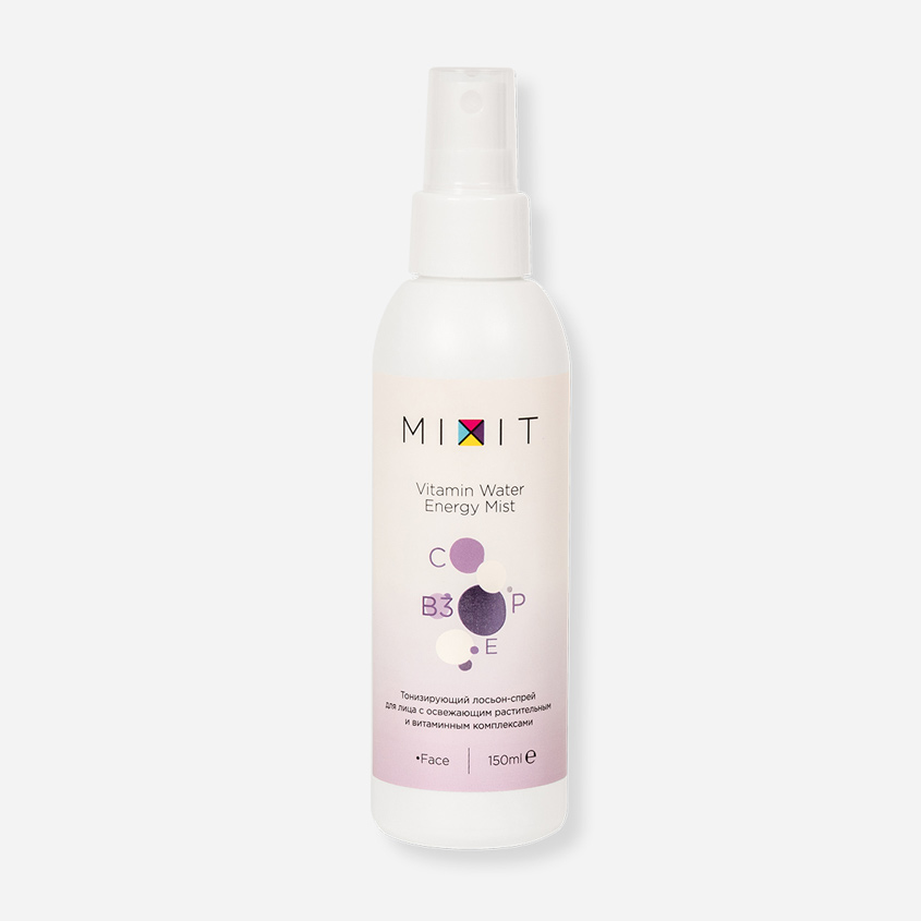 MIXIT Тонизирующий лосьон для лица Vitamin Water Energy Mist