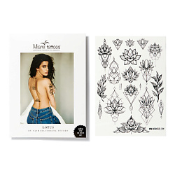 Купить MIAMI TATTOOS Переводные тату Lotus by SashaTattooing Studio_Black Tattoo