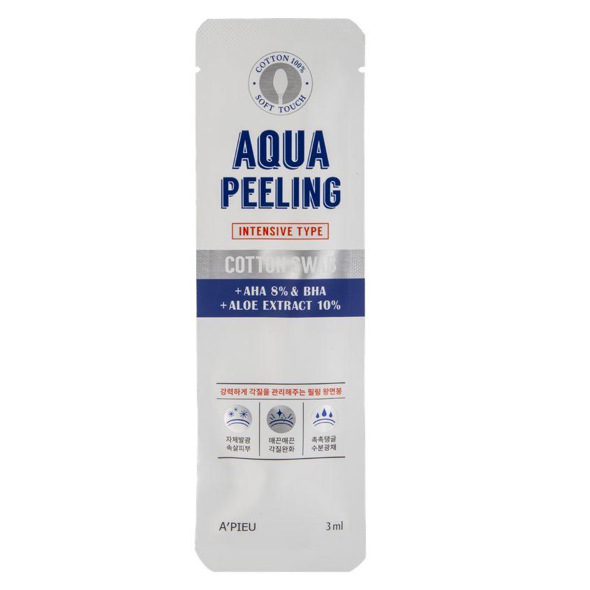 A'PIEU Ватная палочка для пилинга AQUA PEELING c aha и bha-кислотами и экстрактом алоэ (интенсивного действия)