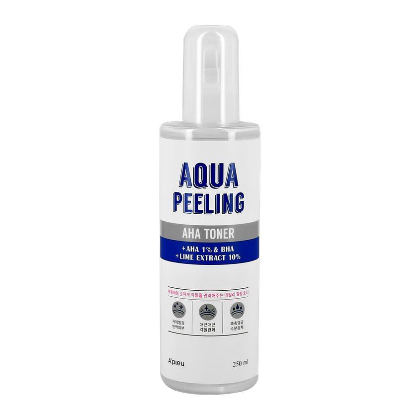 Купить A'PIEU Тонер для лица AQUA PEELING с aha и bha-кислотами и экстрактом лайма