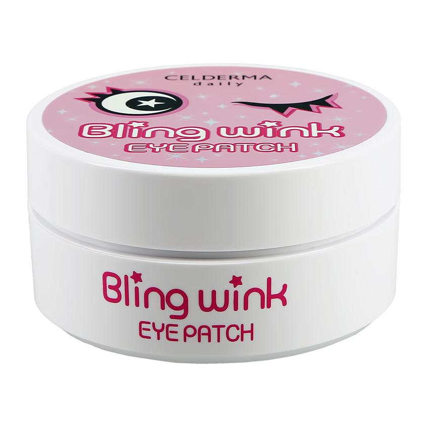 Купить CELDERMA Патчи для глаз BLING WINK гидрогелевые с блестками (против темных кругов)