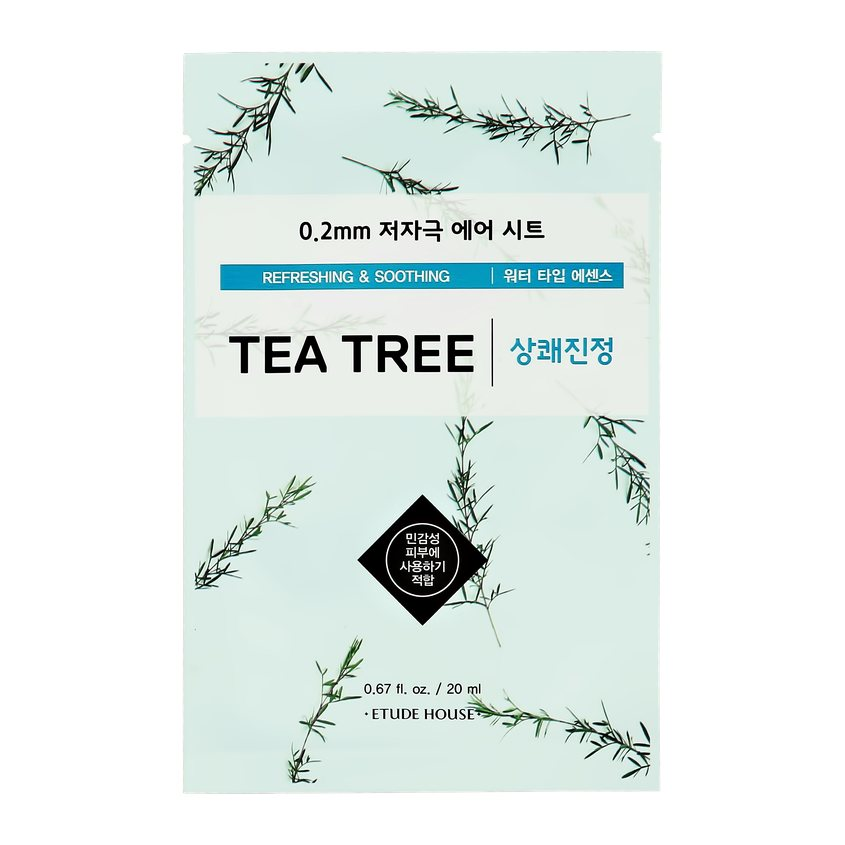 ETUDE HOUSE Маска для лица ETUDE HOUSE с экстрактом чайного дерева (освежающая и успокаивающая)