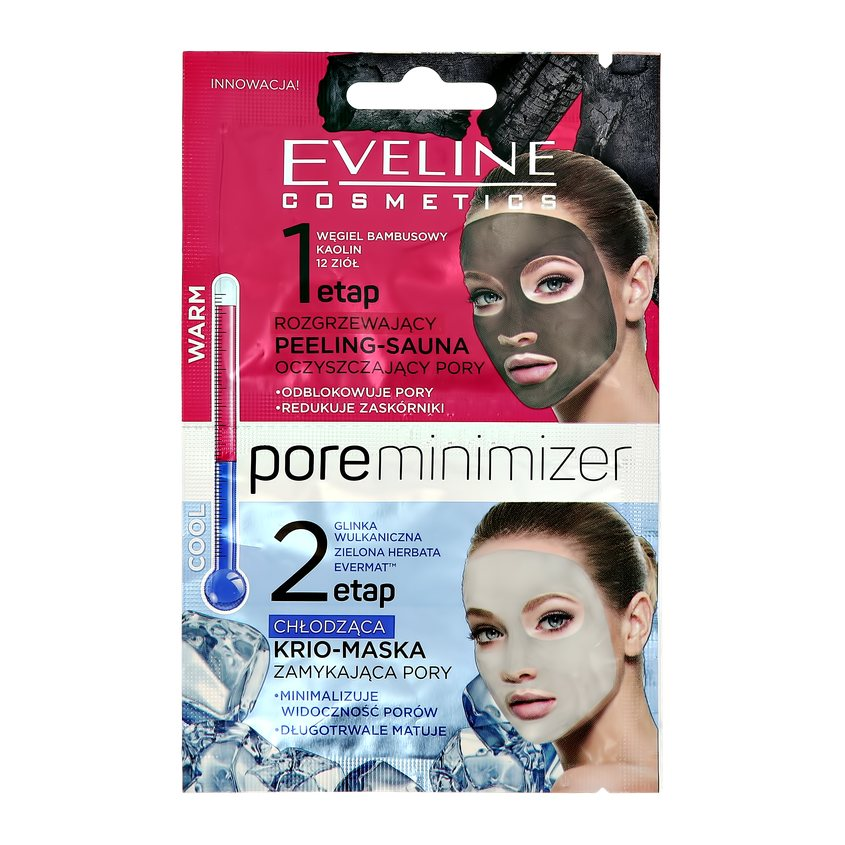 Купить EVELINE Пилинг + маска для лица PORE MINIMIZER пилинг + маска для лица