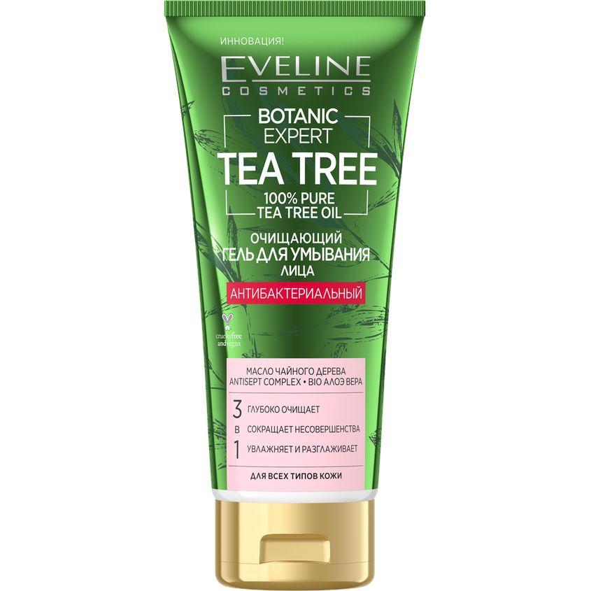 Купить EVELINE Гель для умывания BOTANIC EXPERT TEA TREE 3 в 1 антибактериальный очищающий