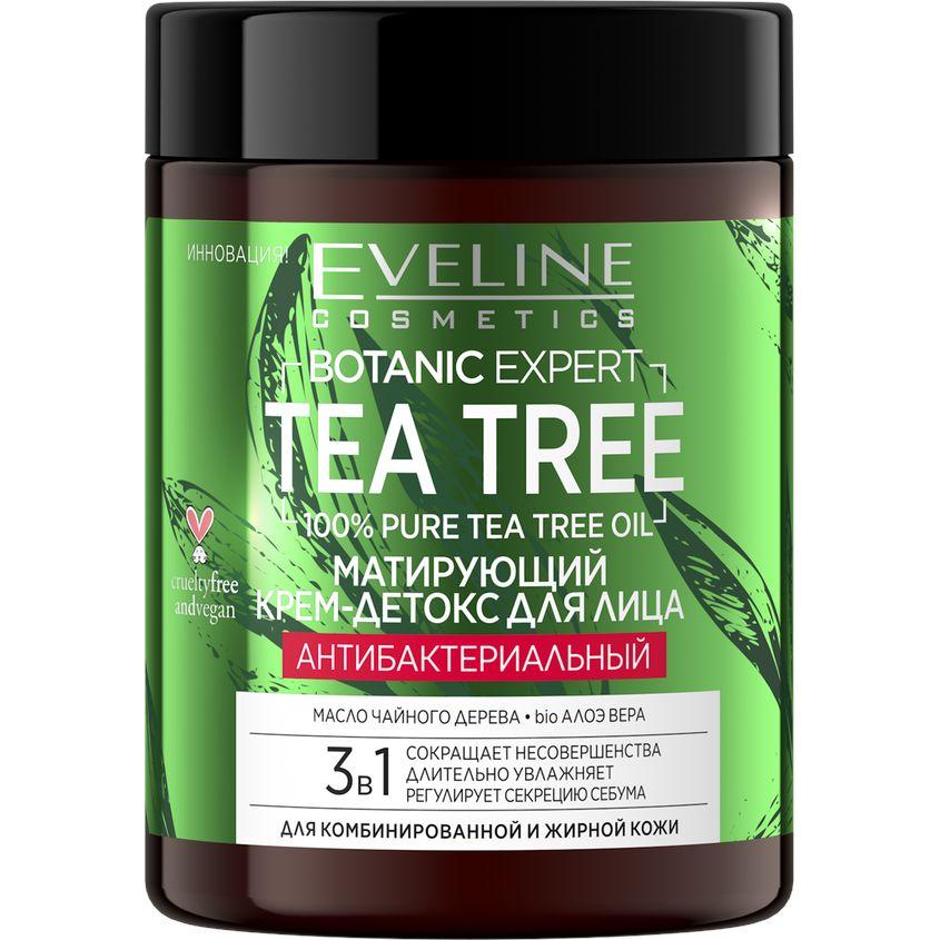 Купить EVELINE Крем для лица BOTANIC EXPERT TEA TREE 3 в 1 антибактериальный матирующий