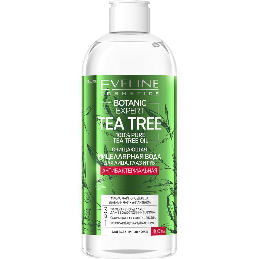 Купить EVELINE Мицеллярная вода BOTANIC EXPERT TEA TREE 3 в 1 антибактериальная очищающая