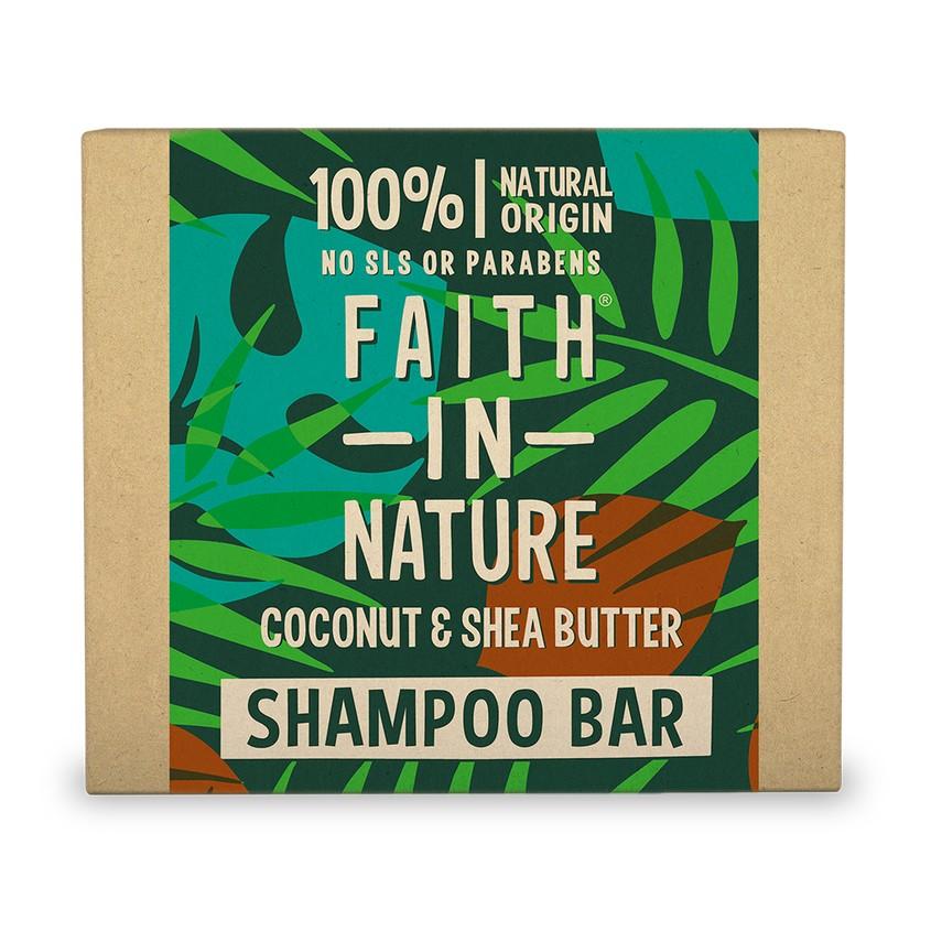 FAITH IN NATURE Шампунь для волос FAITH IN NATURE с маслами кокоса и ши (твердый)