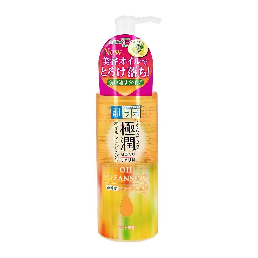 HADA LABO Гидрофильное масло для лица GOKUJYUN с гиалуроновой кислотой.