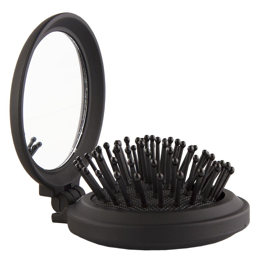 LADY PINK Щетка для волос BASIC mini black массажная круглая soft touch