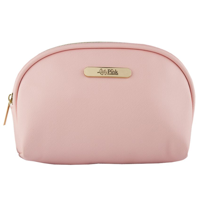 LADY PINK Косметичка BASIC must have овальная розовая