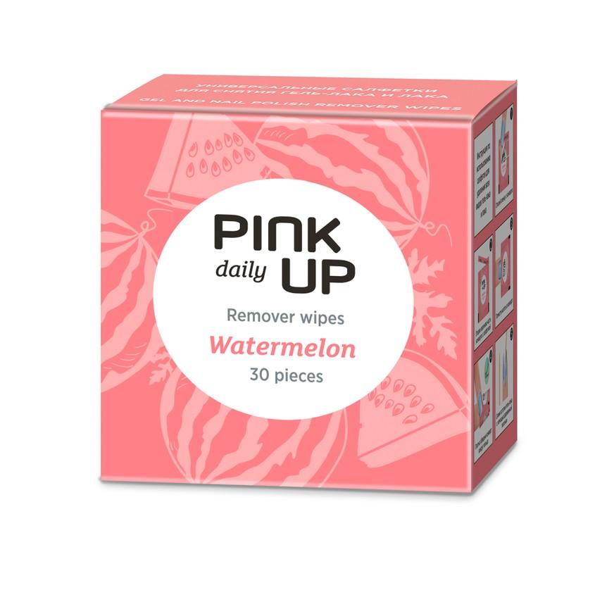 PINK UP Салфетки для снятия лака и гель-лака WATERMELON арбуз
