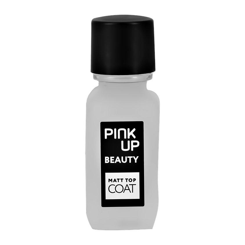 PINK UP Матирующее верхнее покрытие для ногтей BEAUTY matt top coat