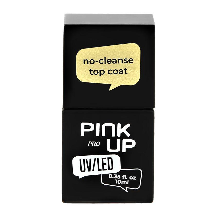PINK UP Верхнее покрытие для ногтей UV/LED PRO no-cleanse top coat без липкого слоя