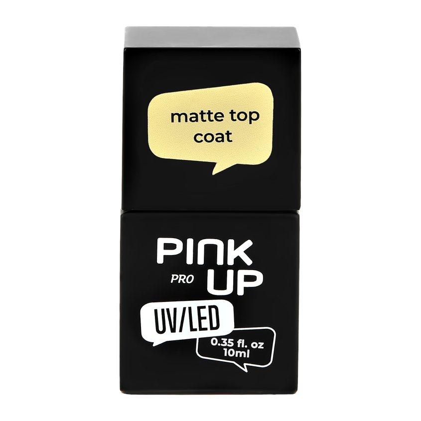 PINK UP Матовое верхнее покрытие для ногтей UV/LED PRO matte top coat