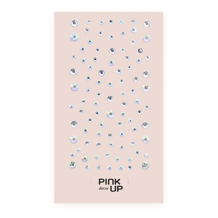 PINK UP Кристаллы для ногтей 3D