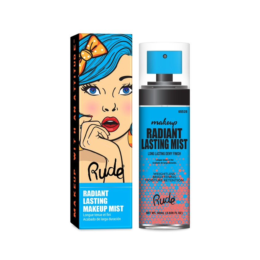 RUDE Мист для лица RADIANT LASTING MAKEUP MIST CLEAR