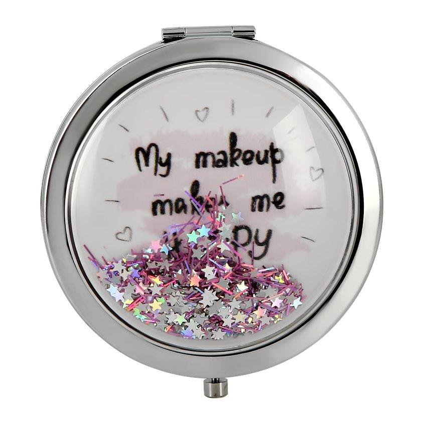 DECO. Зеркало для макияжа DECO. карманное (make up makes me happy)