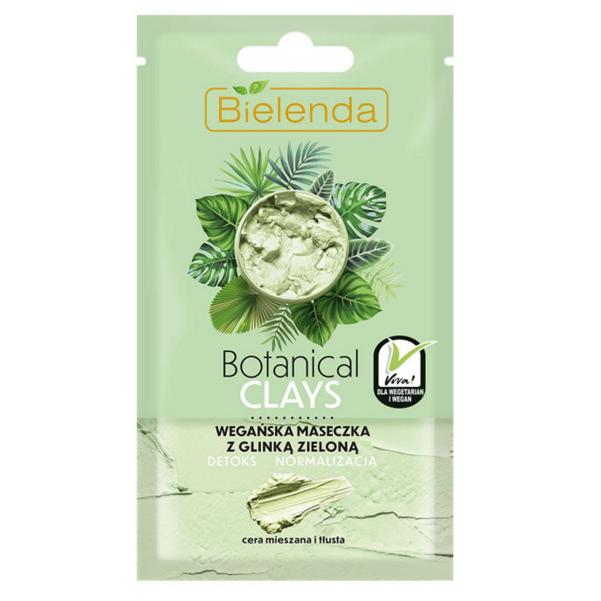 Купить BIELENDA маска для лица с зеленой глиной BOTANICAL CLAYS