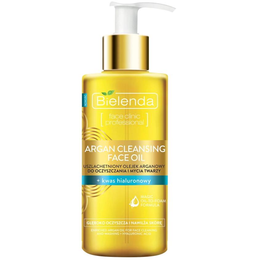 Купить BIELENDA гидрофильное масло для снятия макияжа с гиалуроновой кислотой ARGAN CLEANSING FACE OIL