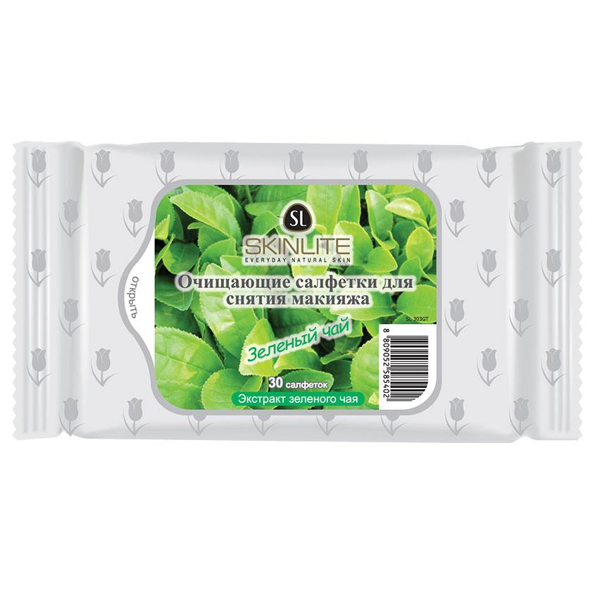 SKINLITE Очищающие салфетки для снятия макияжа Зеленый чай