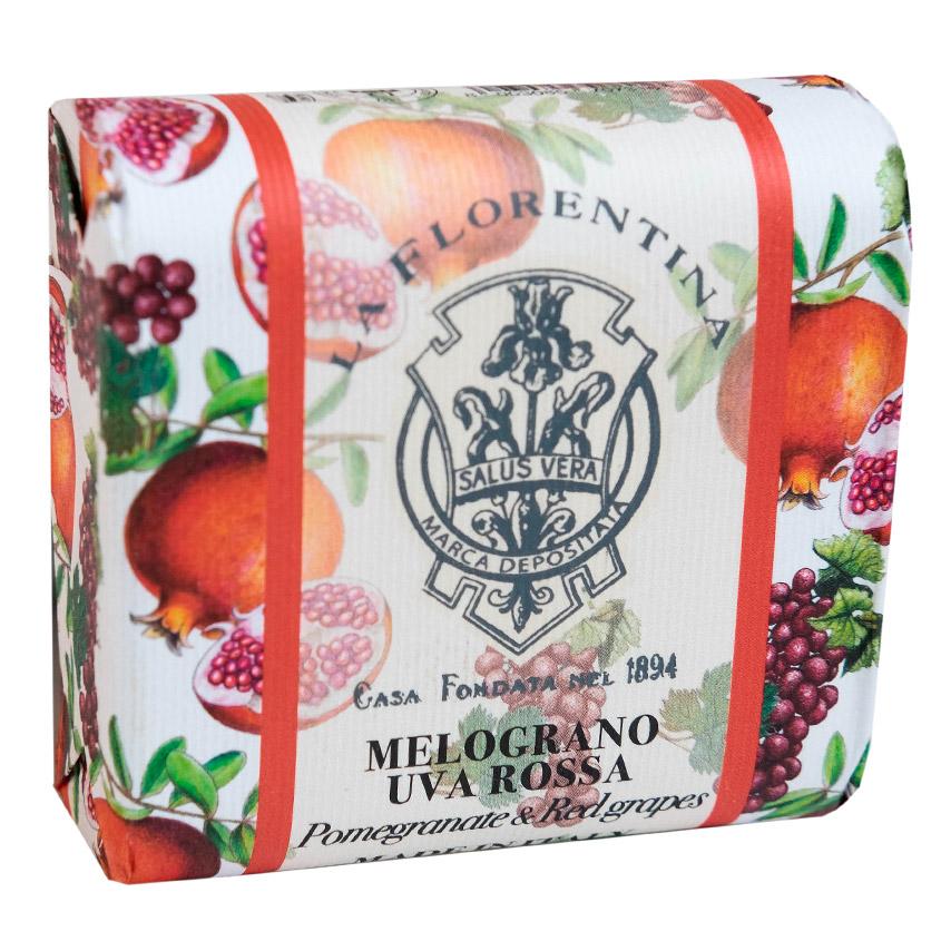 """LA FLORENTINA """"Фруктовые Сады"""" мыло Pomegranate & Red Grape. Гранат и Красный Виноград"""