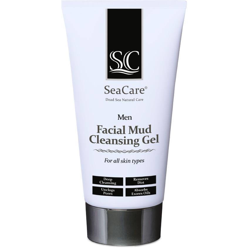 SEACARE Мужской грязевой очищающий гель для лица с Минералами и Солью Мертвого моря и Пентавитином