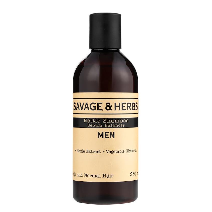 Купить SAVAGE&HERBS Мужской травяной регулирующий шампунь для жирных волос из крапивы
