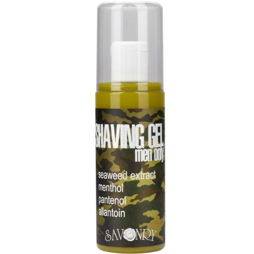 SAVONRY Гель для бритья Men Only Camouflage с экстрактом водорослей