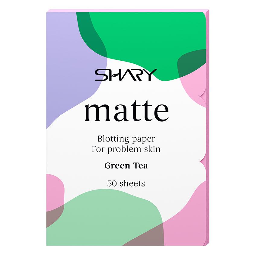 "SHARY Матирующие салфетки для лица ""Зеленый чай"""