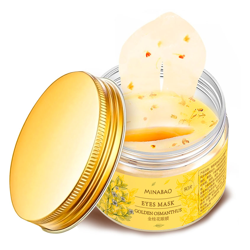 Купить MINABAO Маска для кожи вокруг глаз с лепестками Золотого Османтуса