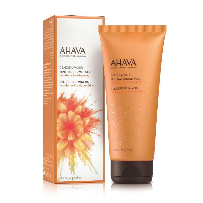 AHAVA Deadsea Water Минеральный гель для душа мандарин и кедр