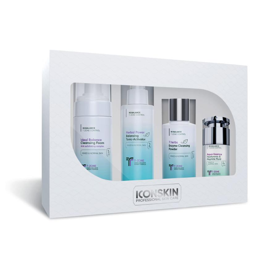 ICON SKIN Набор средств для ухода за комбинированной и нормальной кожей Re:Balance № 1, 4 средства.