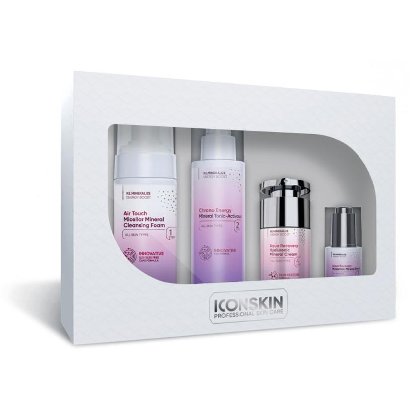 ICON SKIN Набор средств для ухода за всеми типами кожи Re:Mineralize № 1, 4 средства.