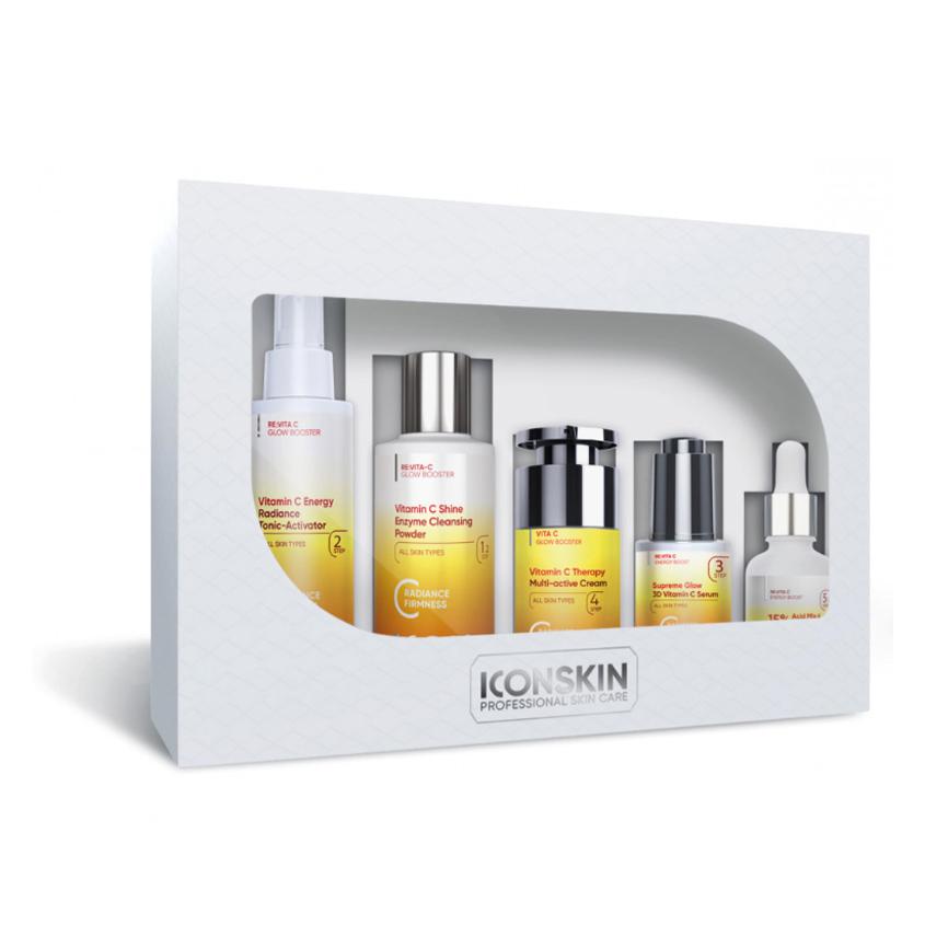 ICON SKIN Набор средств c витамином С для ухода за всеми типами кожи Re:Vita C № 2, 5 средств.