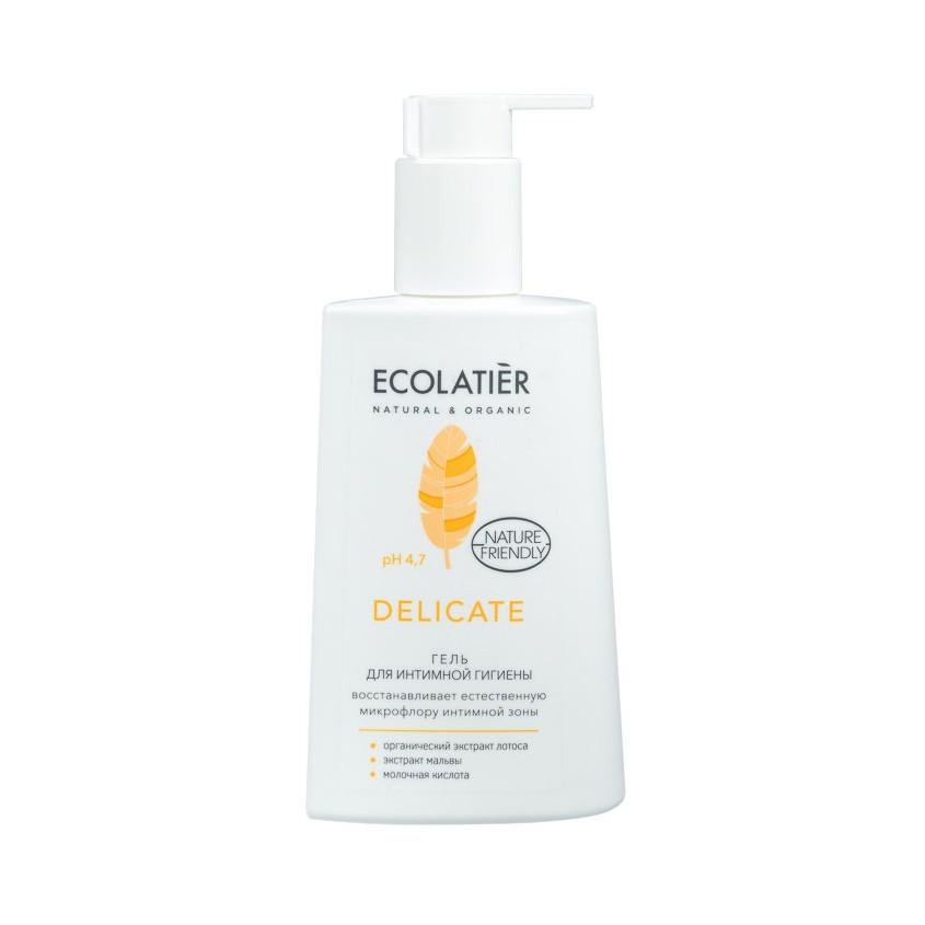 ECOLATIER Гель для интимной гигиены Delicate с органическим экстрактом лотоса