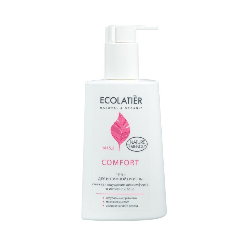 ECOLATIER Гель для интимной гигиены Comfort с молочной кислотой и пробиотиком