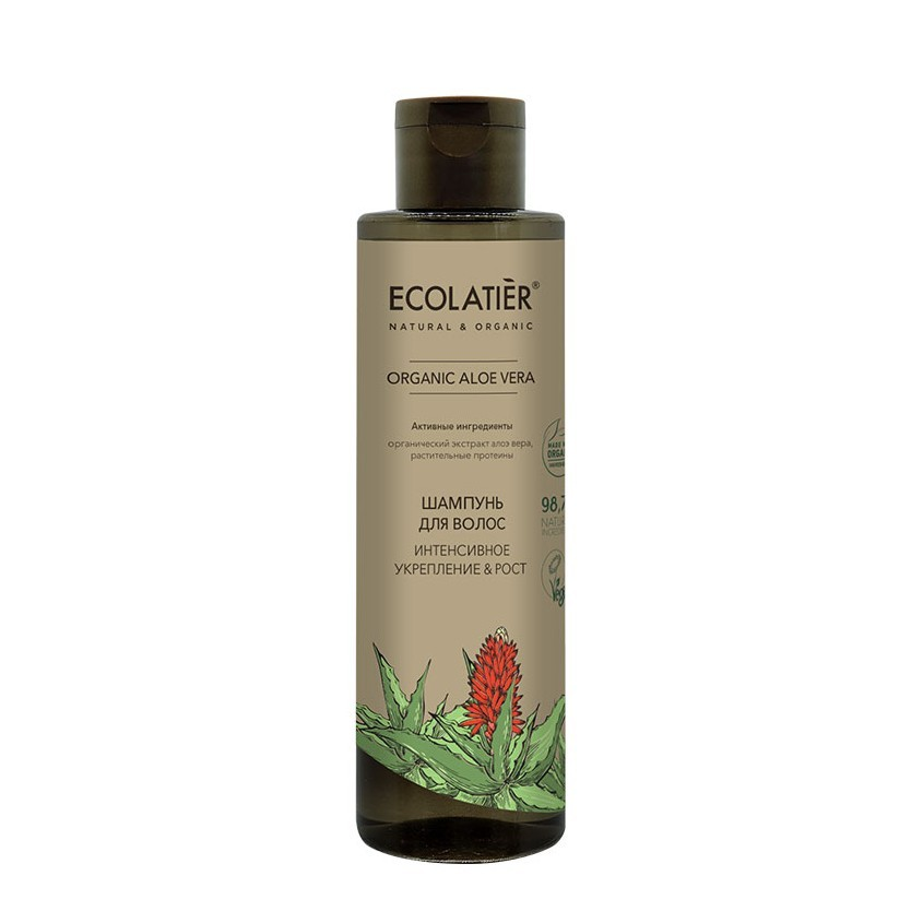 Купить ECOLATIER GREEN Шампунь для волос Интенсивное укрепление & Рост ORGANIC ALOE VERA