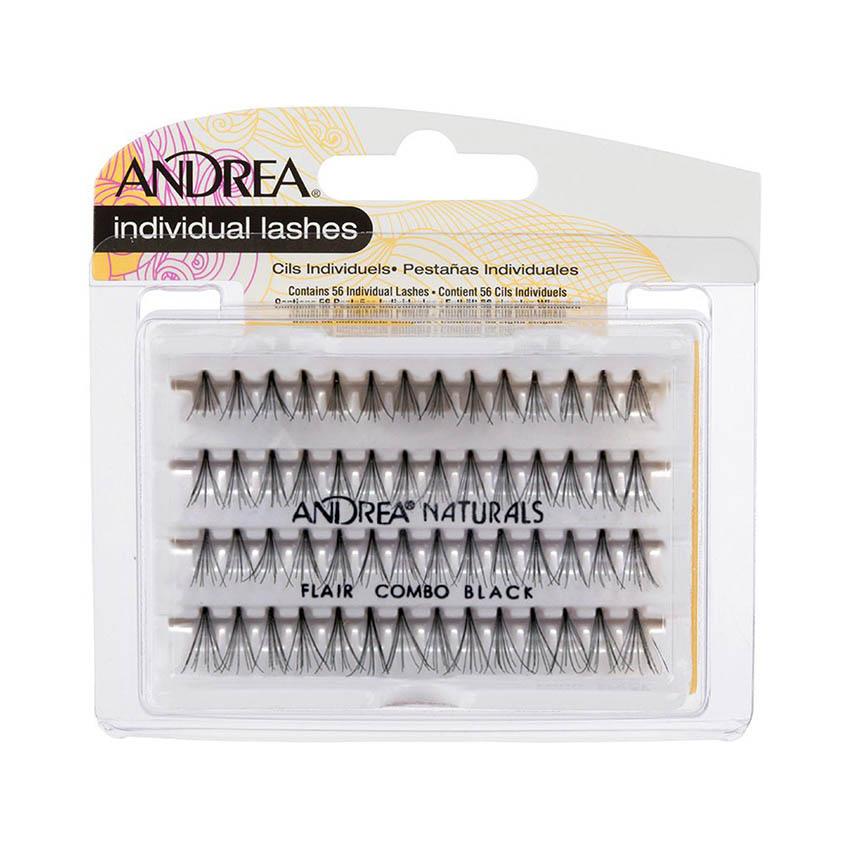 Купить ANDREA Пучки ресниц безузелковые комбинированные черные Perma Lash Naturals Natural Combo