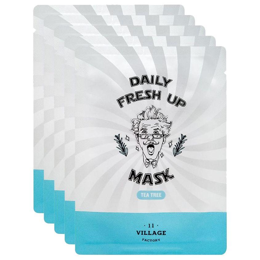 VILLAGE 11 FACTORY Набор успокаивающих тканевых масок с экстрактом чайного дерева Daily Fresh Up Mask Tea Tree